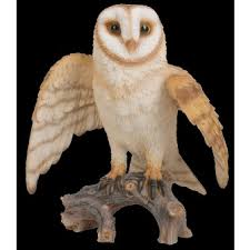 flying barn owl real resin ornament by arts ornaments