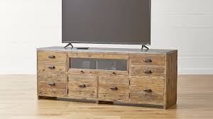 crate and barrel media cabinet amazing wood media cabinet bluestone reclaimed wood media console