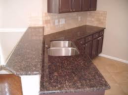 Kitchen Backsplash Ideas With Santa Cecilia Granite Furniture Oak Starmark Cabinets With Merola Tile Backsplash And