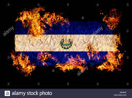 Salvadoran Flag National Symbols And Flag Of El Salvador Stock Photo Royalty Free