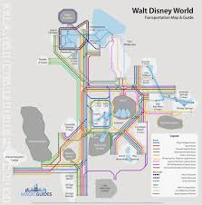 Disney Monorail Map Disney World Transportation Map Interactive Guide To Navigate Disney