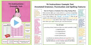y6 instructions model example text example texts y6