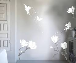Wall Art Stickers by Wall Ideas Fairy Wall Art Decals 90x30cm Pvc Flower Fairy