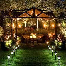 lighting strung beneath an outdoor canopy