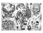 skull adn demon tattoo design img75 demons tattoo design, art ...
