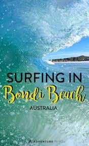 surfing in bondi beach