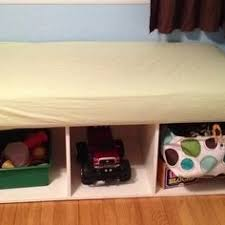 Used Crib Mattress Ottoman Made From Coffee Table And Crib Mattress A Few