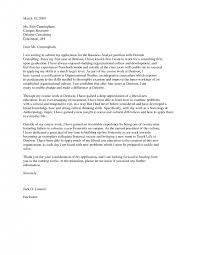 cover letter cover letter for a consulting firm