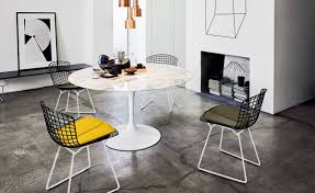 Bertoia Dining Chair Bertoia Two Tone Side Chair With Seat Cushion Hivemodern