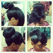 black hairstyles with bun and bangs bush hairstyles hair is our crown