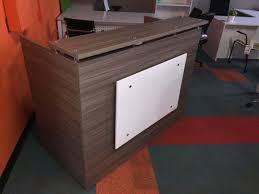 Reception Desk Shell Sand Reception Desk Shell 30 By 60 Inch