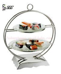 distinctive stainless steel buffet stand food display shelf