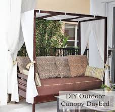 Outdoor Daybed With Canopy Diy Outdoor Canopy Daybed Made Out Of A Twin Mattress I U0027m Saving