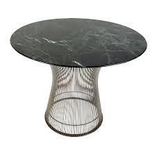 vintage warren platner for knoll side table with nickeled rod base