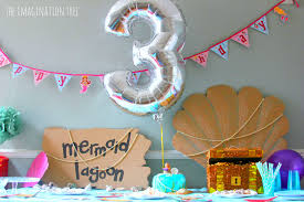 simple birthday party decorations at home mermaid birthday party ideas the imagination tree