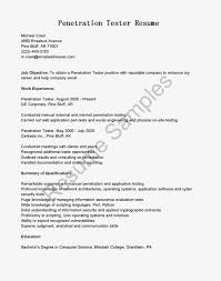 Sample Resume Objectives For Trades by Webload Performance Tester Cover Letter