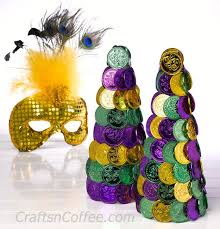 mardi gras decorations to make celebrate mardi gras and diy mardi gras coin topiaries crafts n