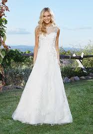 a line gown wedding dresses illusion neckline wedding dresses