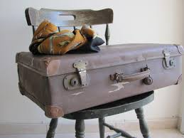 antique old vintage suitcase luggage 1930 u0027s brown travel decor