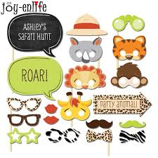 photo booth props for sale enlife 1set jungle animal photo booth props theme baby