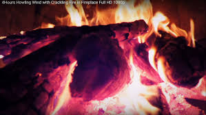 4hours howling wind with crackling fire in fireplace full hd 1080p