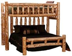 loft style bunk bed log bunk beds minnesota log home furniture