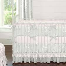 Gray And White Crib Bedding Baby Crib Bedding Pink Wildflower Garden Crib Bedding