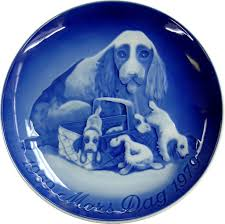 s day plate of puppies by grondahl b g
