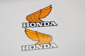 classic honda logo honda oil tank decals