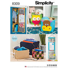 Sewing Patterns For Home Decor Simplicity 8309 Organizers