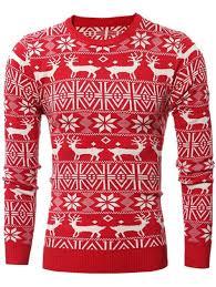 cardigans sweaters xl deer pattern crew neck snowflake