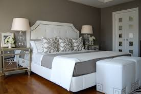 Gray Paint Ideas For A Bedroom Our Borghese Mirrored Side Chests Are Distinctive Details In This