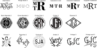 three letter monogram monograms name designs choice cut engraving