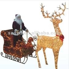 running deer decorations buy led running deer metal