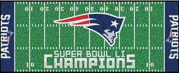 new england patriots nfl super bowl 51 championship football field rug