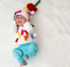 Newborn Baby Costumes Halloween Baby Kids Clothes Simple Colorful