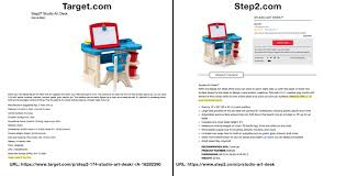 Step 2 Studio Art Desk by Target Made In The Usa Error Data Truth In Advertising
