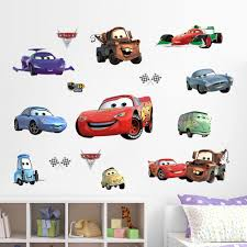 cartoon cars child room wall stickers for kids room boy bedroom
