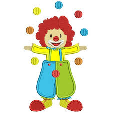 clowns juggling balls clown juggling balls applique machine embroidery digitized design