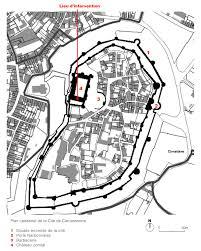Carcassonne France Map by Comtal Castle Of Carcassonne Dda Architectes