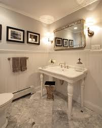 bathroom apothecary jar ideas bathroom sink consoles powder room traditional with antique mirror