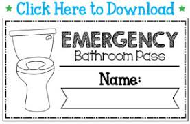 Bathroom Pass Template The Teacher Wife August 2014