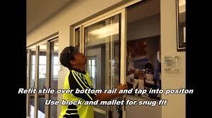Remove Patio Door by Changing Pd Sliding Door Rollers Youtube