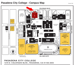 Pasadena Ca Map Pasadena City College Map My Blog