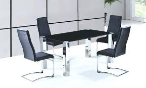 Metal Leg Dining Chairs Dining Table Set Steel U2013 Zagons Co