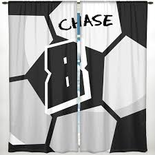 Soccer Curtains Valance Soccer Window Curtain Soccer Valance Soccer Theme Decor