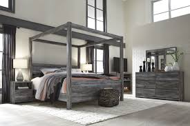 baystorm gray king canopy bed from ashley coleman furniture