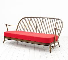 Ercol Armchair Red Windsor Three Seater Sofa From Ercol 1950s For Sale At Pamono