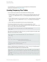 Create Temporary Table Flex Tables Guide Software V 7 0 X