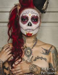 love day of the dead and the makeup so doing something like this